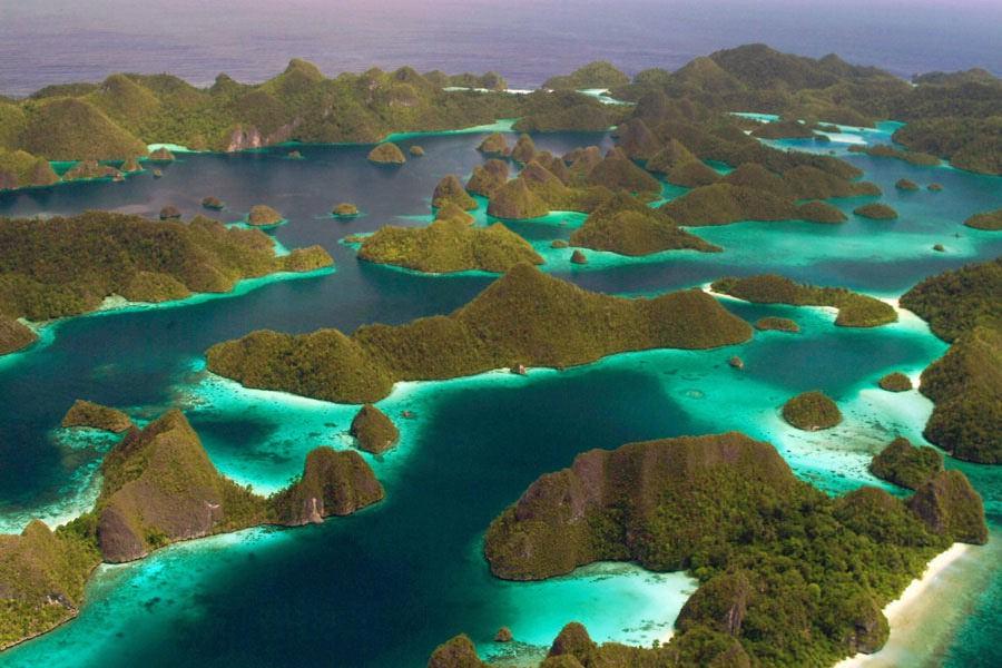 Wayag islands at Raja Ampat